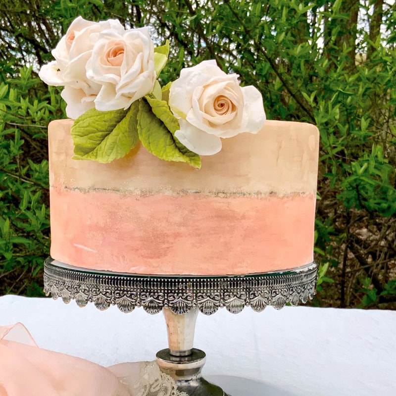 Romantic Roses Cake by Mamie Brougitte Cakes
