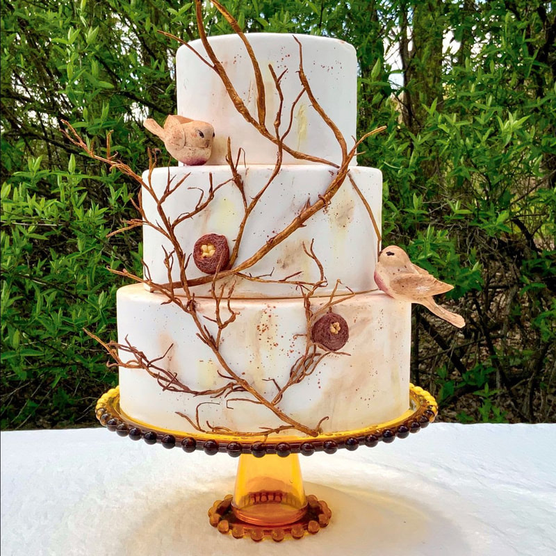 Nest of Sparrows Cake by Mamie Brougitte Cakes